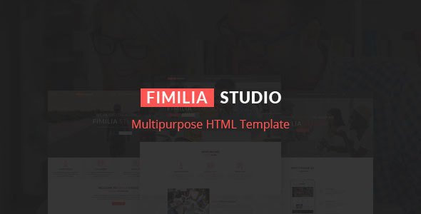 FIMILIA STUDIO - Creative HTML Template - Creative Site Templates