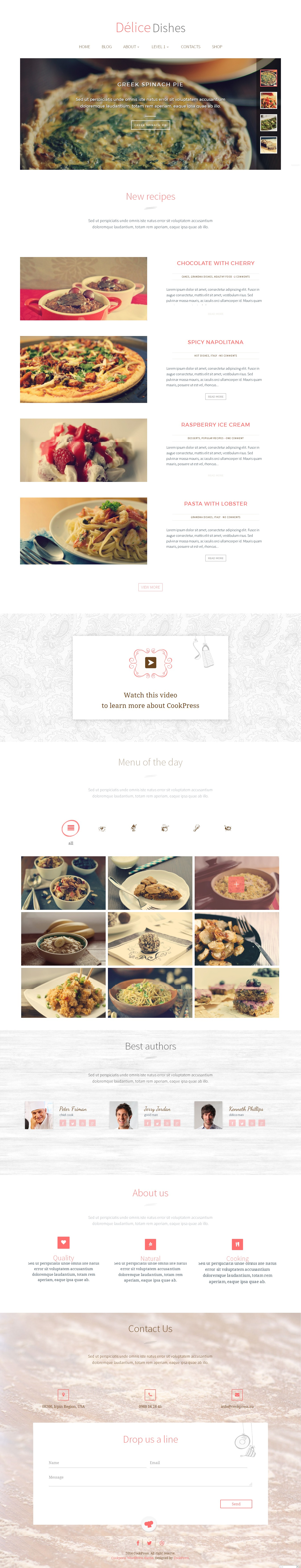 delice dishes light wp cook theme \u2022 by cookpress  american regional cuisine firefox.php #1