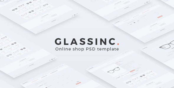 Glassinc – Online Shop PSD Template