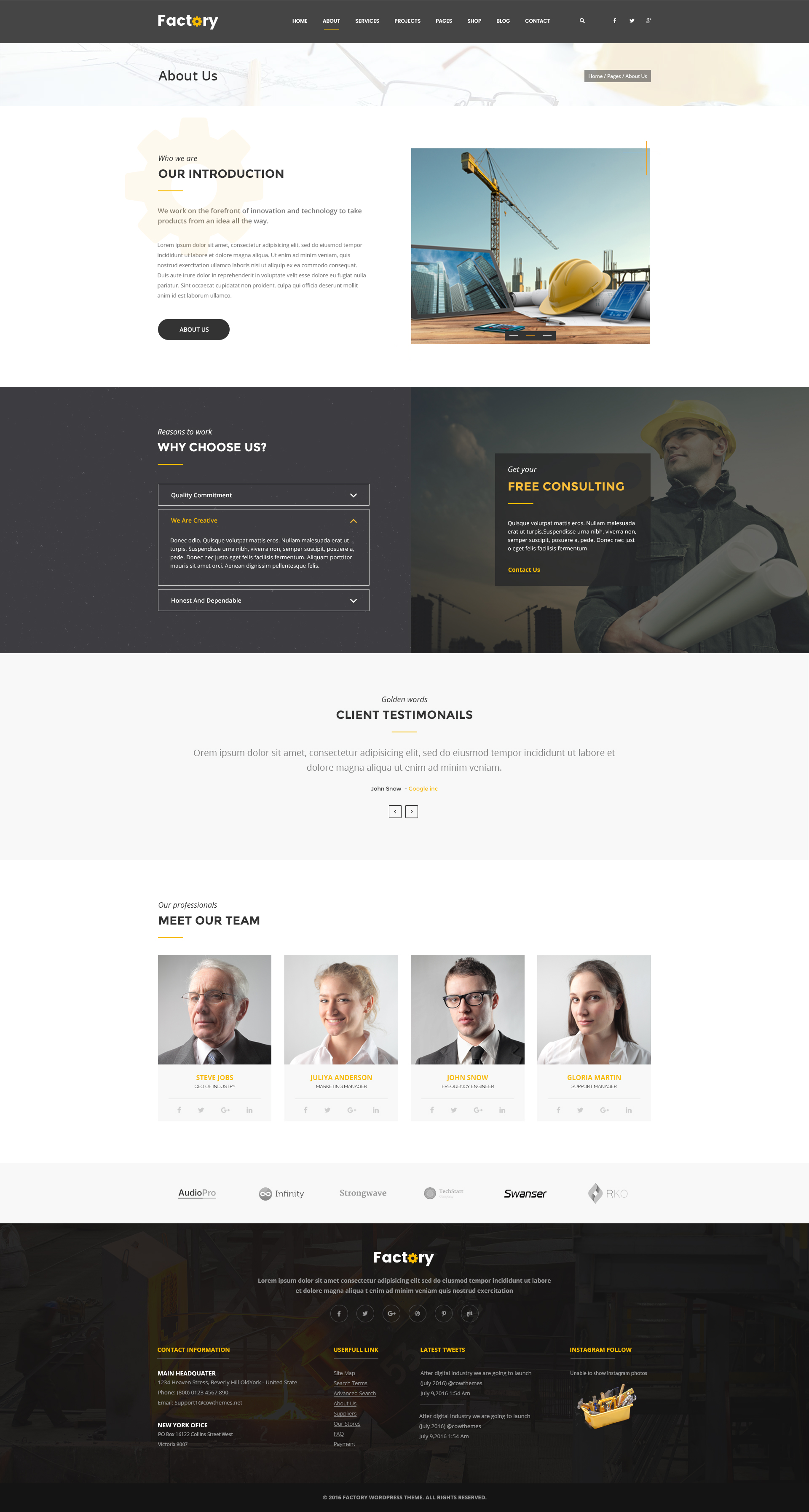 About Us Template Free Download Radiofixer