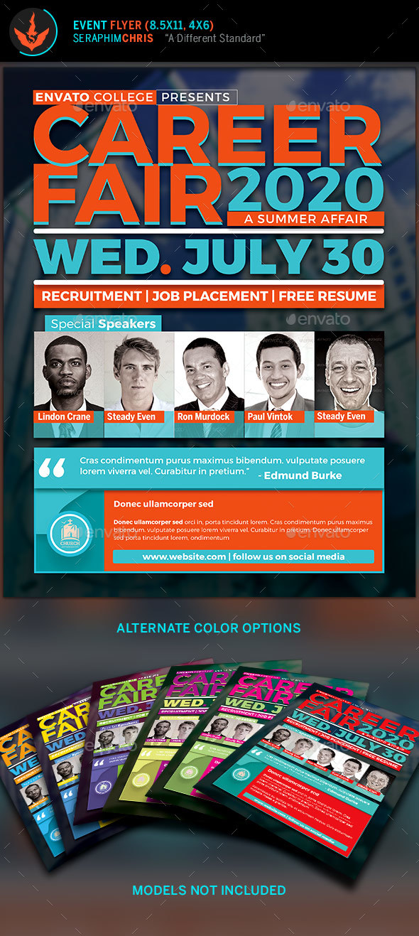 Career fair flyer template by seraphimchris graphicriver career fair flyer template corporate flyers maxwellsz