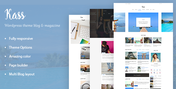 Kass – Simple Blog/Magazine WordPress Theme