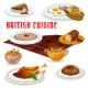 British Cuisine Breakfast Icon For Menu Design
