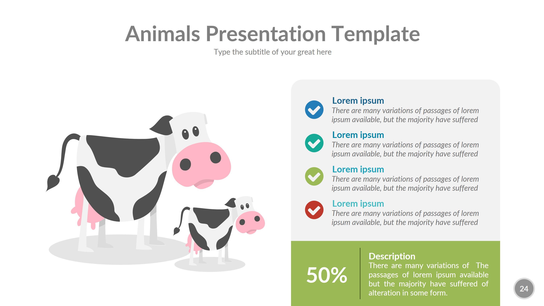 animals powerpoint presentation templaterengstudio | graphicriver, Presentation templates