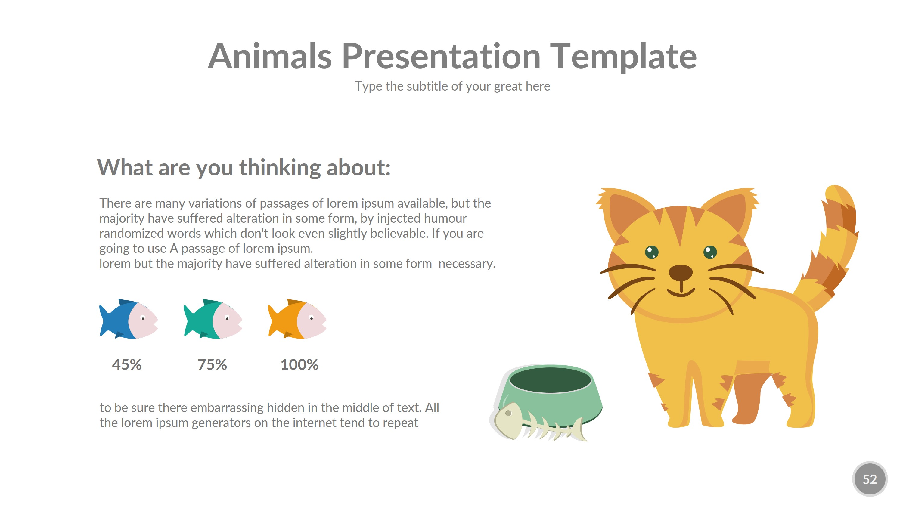 Animals Powerpoint Presentation Template By Rengstudio Graphicriver