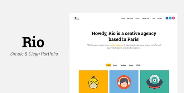 Rio – Creative Responsive Portfolio Template