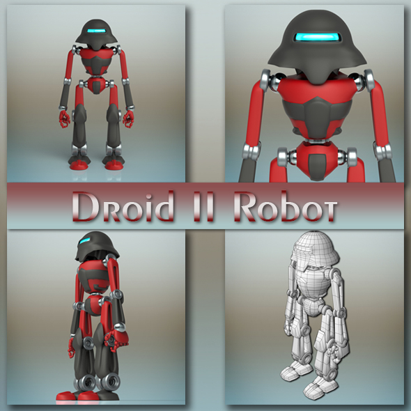 Droid II Robot - 3DOcean Item for Sale