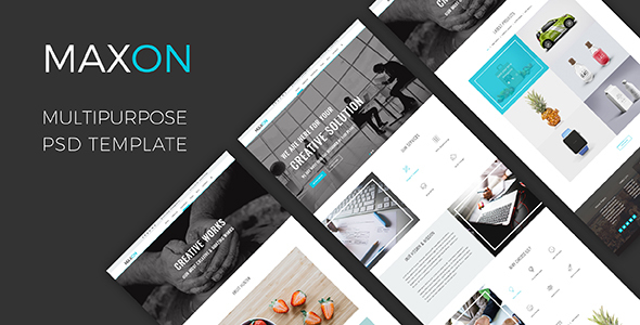 MAXON – Multipurpose One Page PSD Template