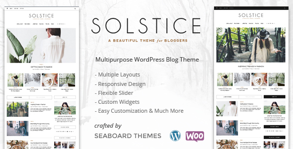 Solstice - A WordPress Shop Blog Theme - Personal Blog / Magazine