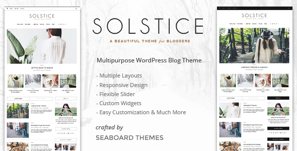 Solstice - Personal & Magazine WordPress Blog Theme