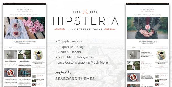 Hipsteria - A WordPress Blog Theme - Personal Blog / Magazine