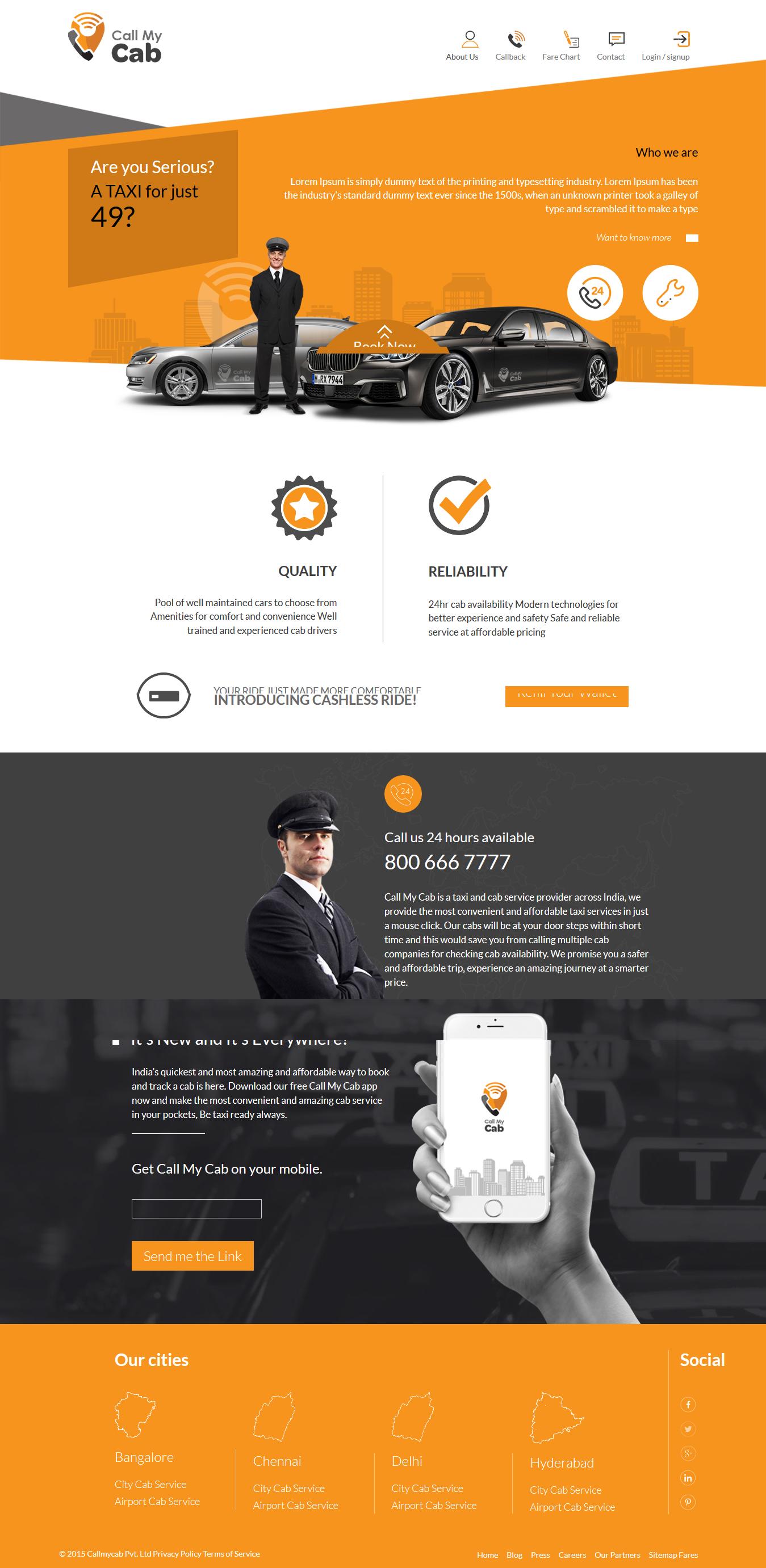 Design Cab Booking System