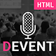 D Event - Event & Conference Site Template with Onepage & Multipage Feature