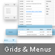 Grids and Menus - 2 color combos - GraphicRiver Item for Sale