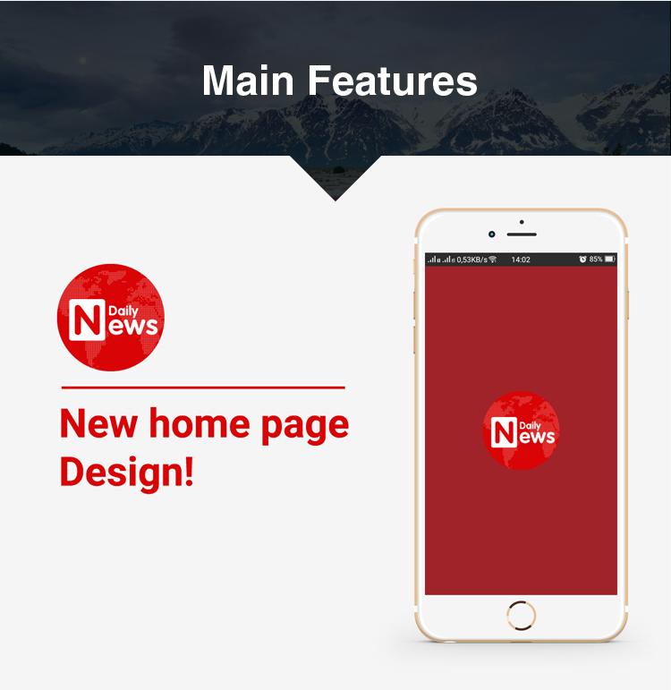 Full Mobile Application for Wordpress News, Blog, Magazine Website ...