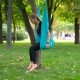 Young Girl Doing Yoga Exercises On The Air - VideoHive Item for Sale