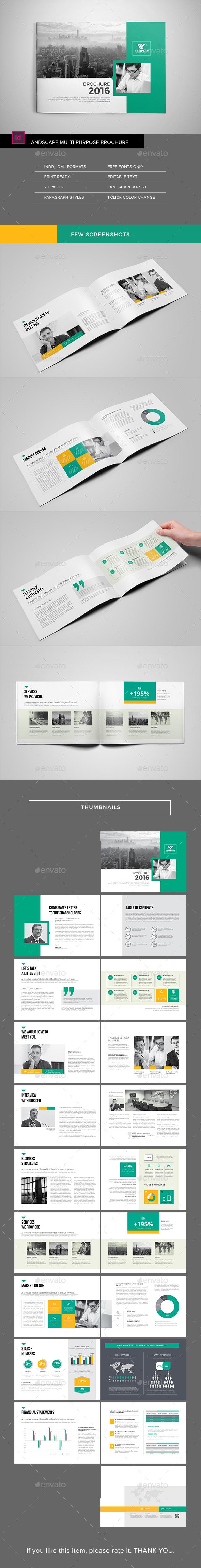 Multipurpose Landscape Brochure