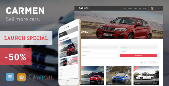 Carmen – Car Dealership WordPress Theme