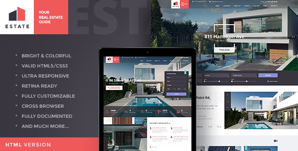 Estate | Property Sales & Rental Site Template