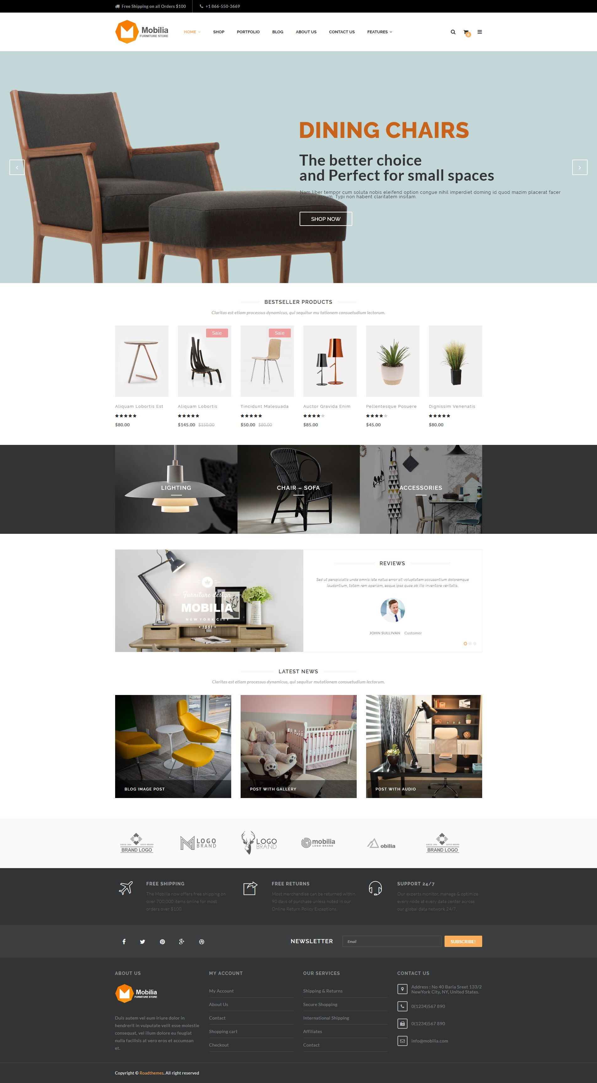 mobilia furniture woocommerce wordpress theme by