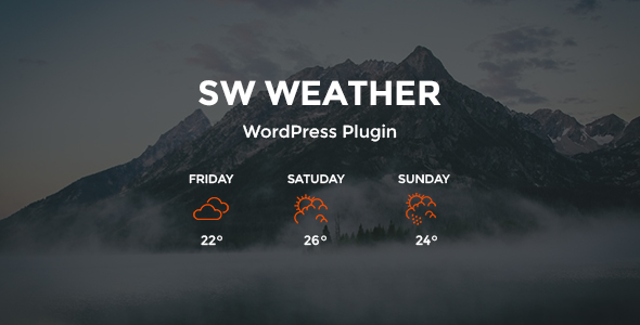 SW Weather - WordPress Weather Forecast Plugin - CodeCanyon Item for Sale