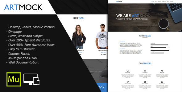 Artmock – Multipurpose Muse Template