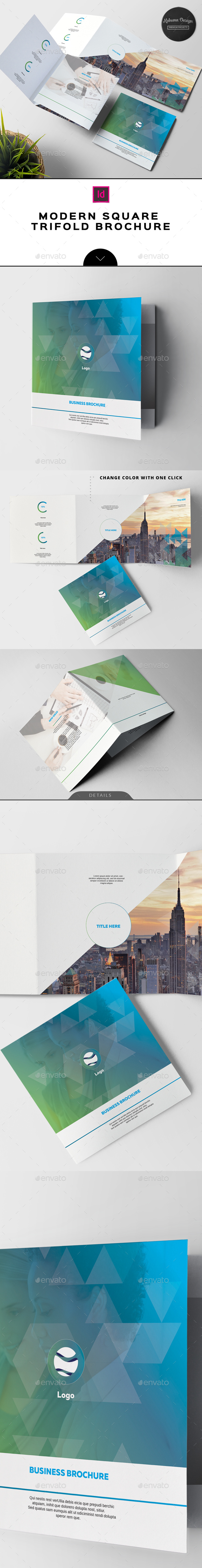 Modern Square Trifold Brochure - Corporate Brochures