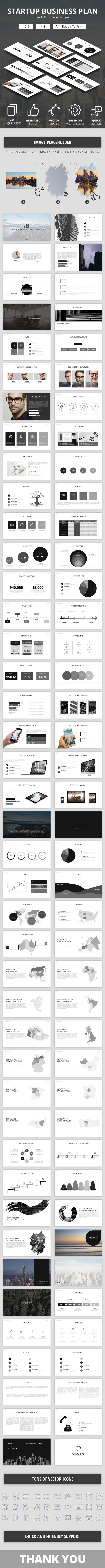 Startup Business Plan Keynote Presentation Template - Business Keynote Templates