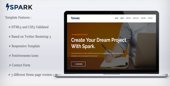 Spark-Multipurpose Template - Corporate Site Templates