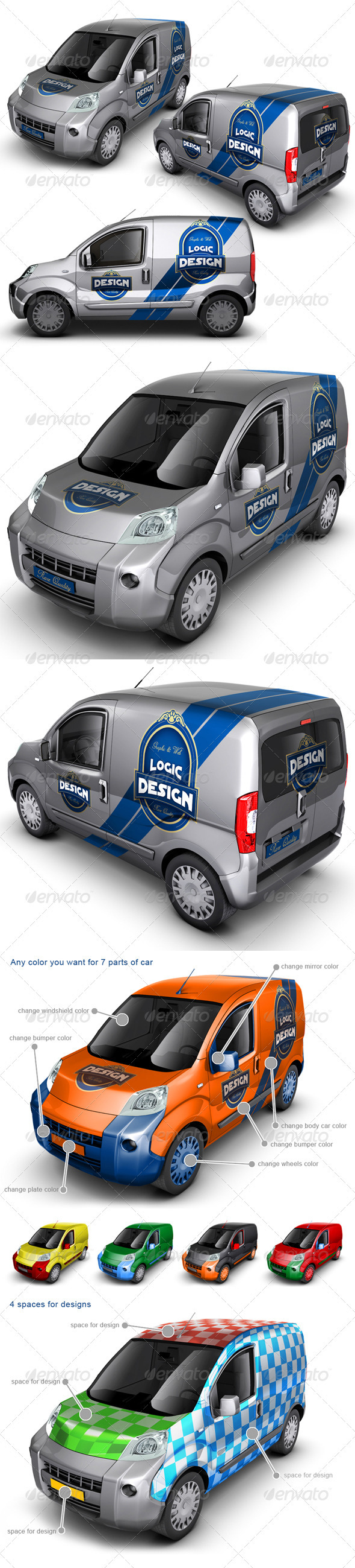 Minivan Car Mock Up - Vehicle Wraps Print