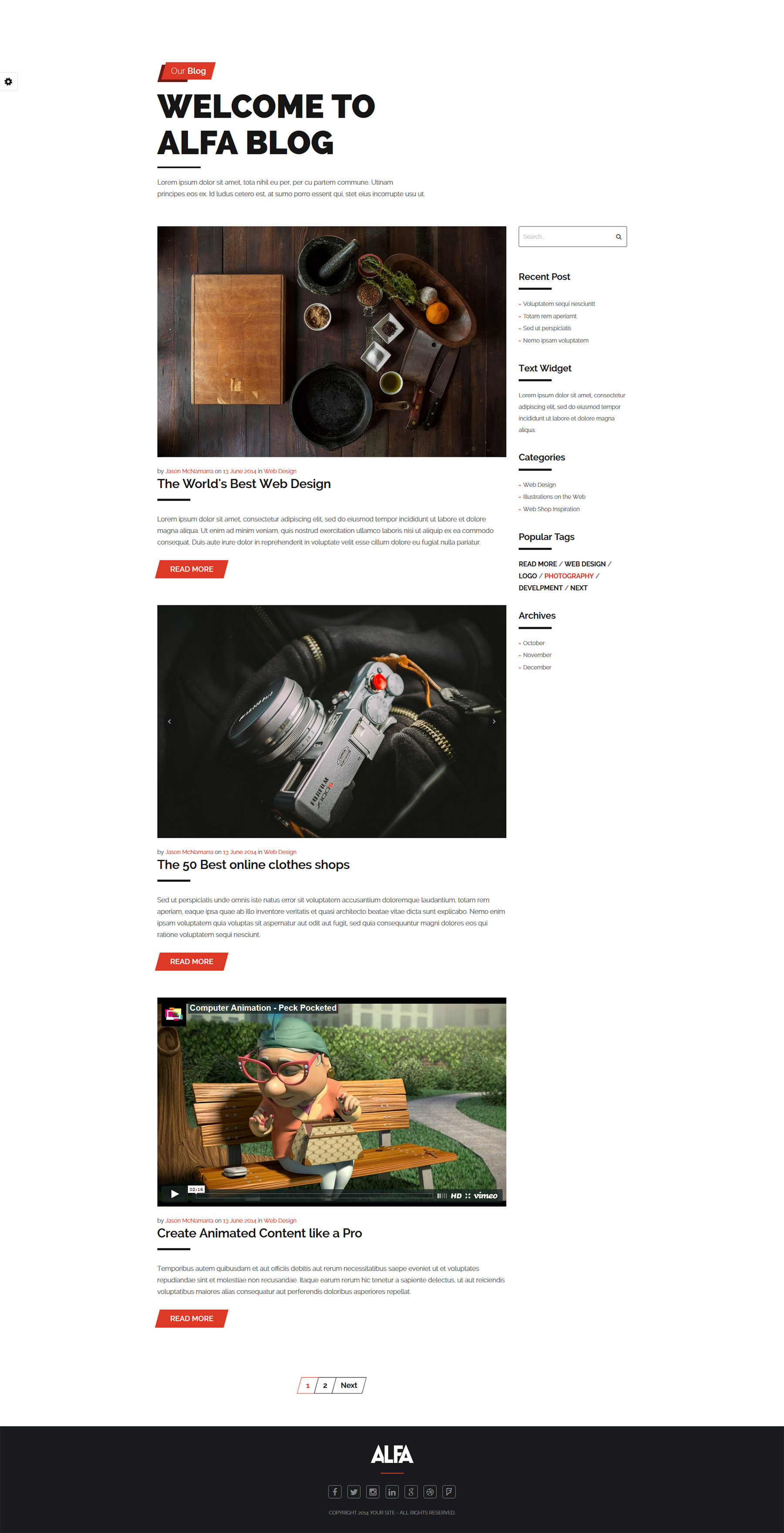 Alfa - Responsive Bootstrap One Page Template by ShindiriStudio ...