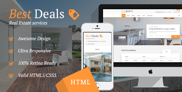 Best Deals | Property Sales & Rental Site Template - Business Corporate