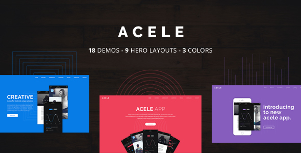 Acele - Multi Purpose App Showcase - Landing Page WordPress Theme