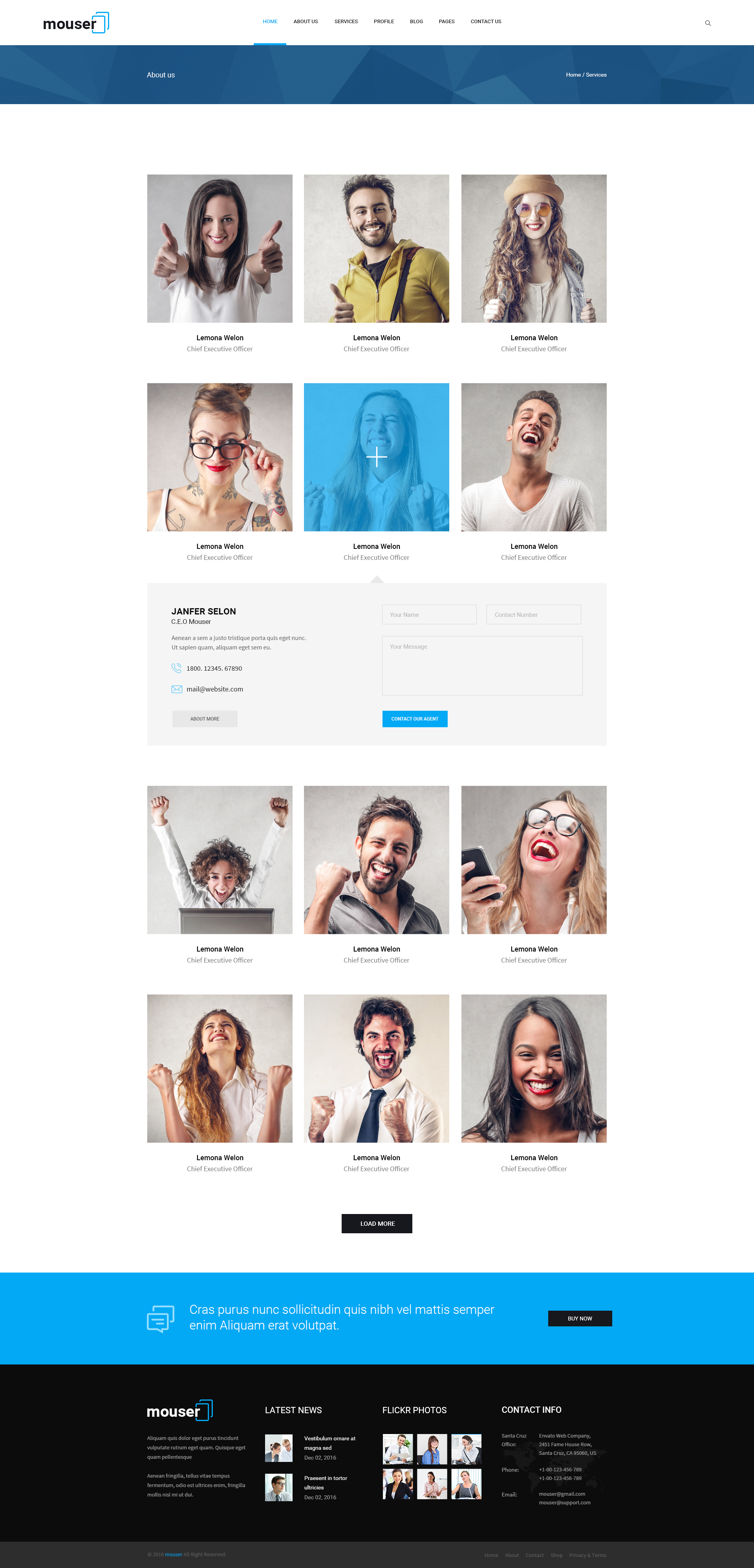 Mouser | Agency & Business Multipurpose PSD Template