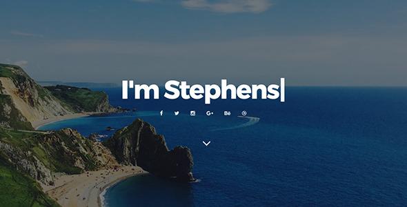 Stephens - Personal Portfolio HTML Template