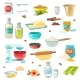 Baking Ingredients Colored Icons - GraphicRiver Item for Sale