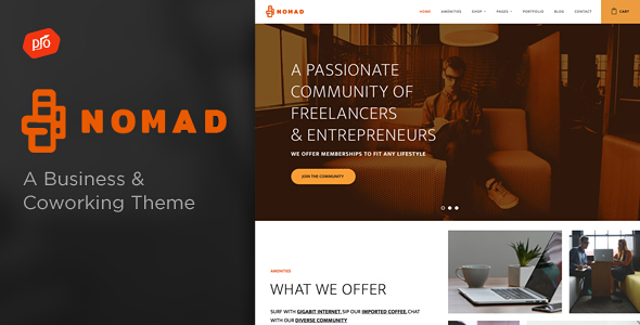 Nomad – Business & Coworking Space Theme