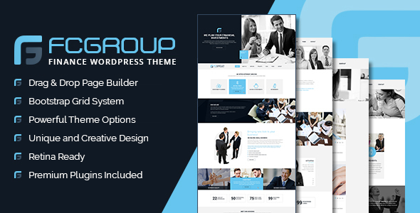 Finance Group - Corporate WordPress Theme