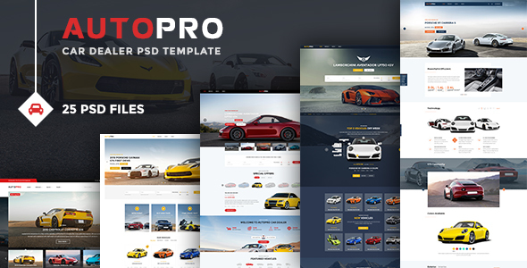 Autopro – Modern PSD Template for Car and Auto Dealers