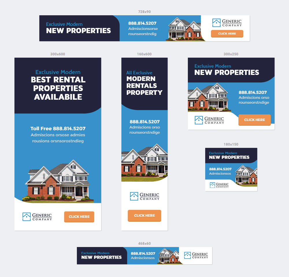 Real Estate Business Banner Ads Html5 Animated Gwd By Infiniweb Codecanyon