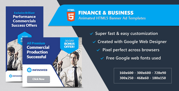 Finance business banner ads html5 animated gwd by infiniweb finance business banner ads html5 animated gwd codecanyon item for sale wajeb Image collections