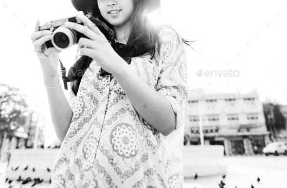 Camera Photographer Inspiration Journey Style Concept - Stock Photo - Images