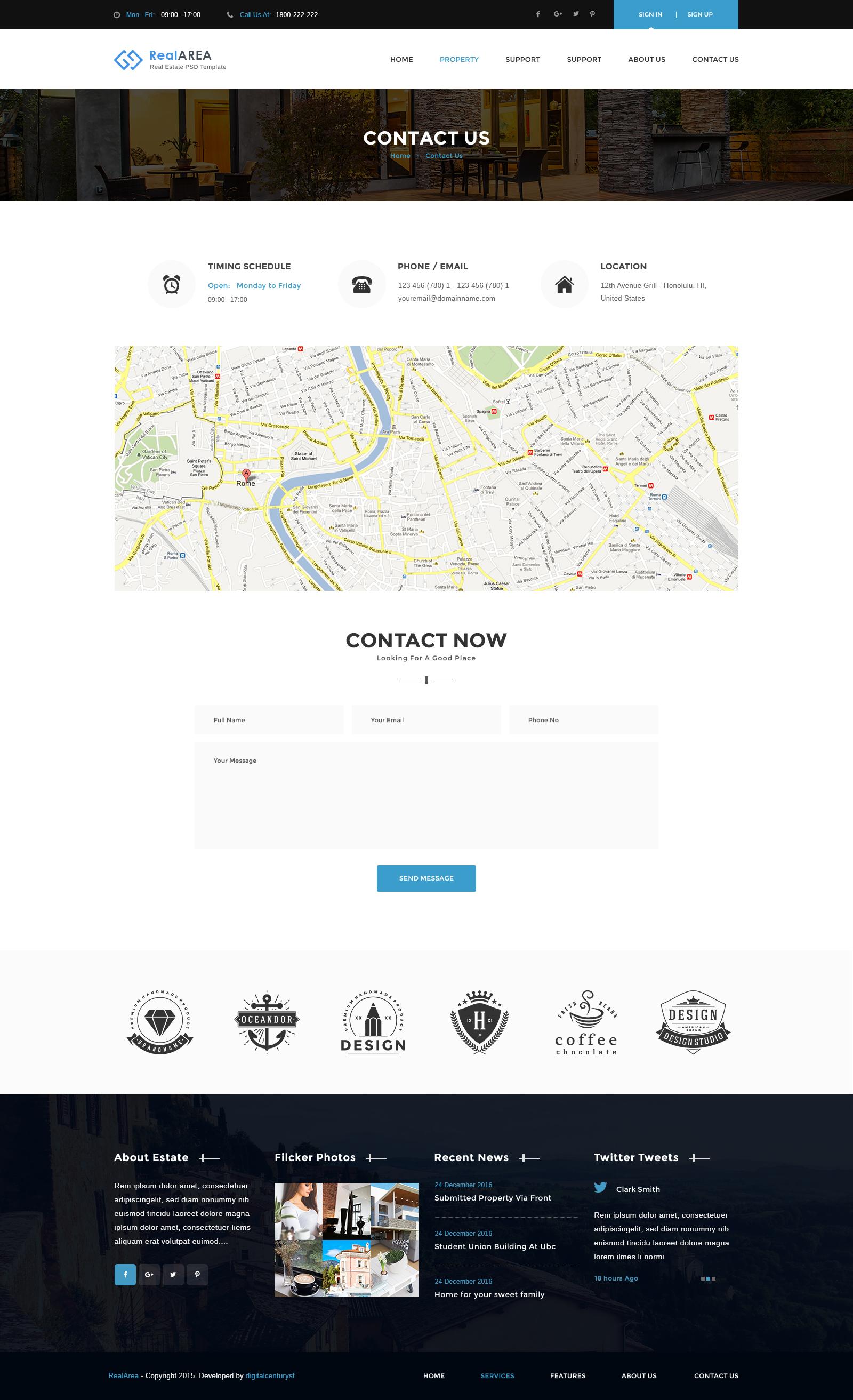 RealArea - Real Estate PSD Template by digitalcenturysf   ThemeForest