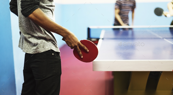Table Tennis Ping-Pong Friends Sport Concept - Stock Photo - Images