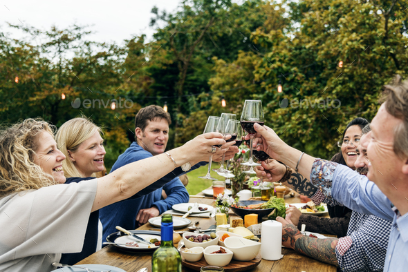 Group Of People Cheers Concept - Stock Photo - Images