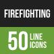 Firefighting Line Green & Black Icons