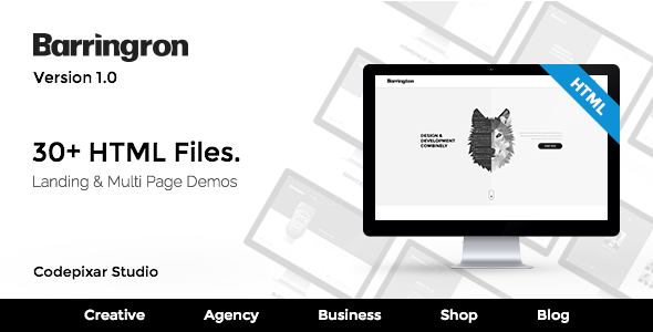 Barringron – Creative Agency HTML5 Template