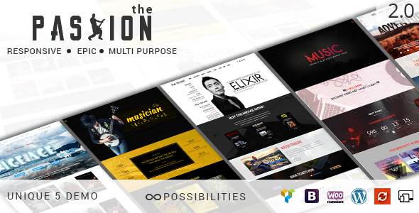 THE PASSION – Multipurpose Movie Video & Music WP Theme