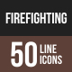 Firefighting Line Multicolor Icons