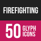 Firefighting Glyph Inverted Icons